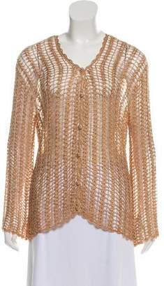 Calypso Button-Up Crochet Cardigan