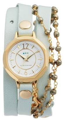La Mer Perth Wrap Leather Strap Watch, 22mm