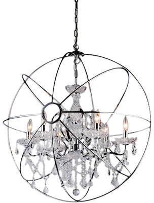 Warehouse of Tiffany 6-Light Globe Pendant
