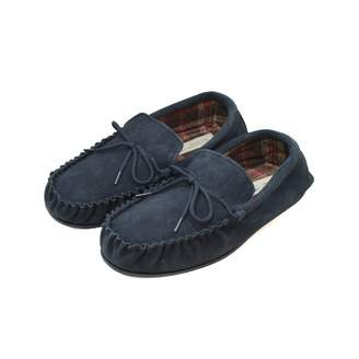 Eastern Counties Leather Mens Fabric Lined Moccasins (7 US)