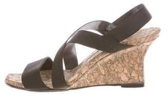 Manolo Blahnik Woven Wedge Sandals