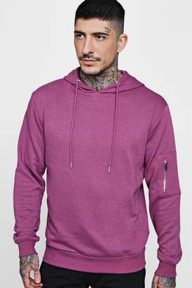boohoo Over The Head MA1 Hoodie