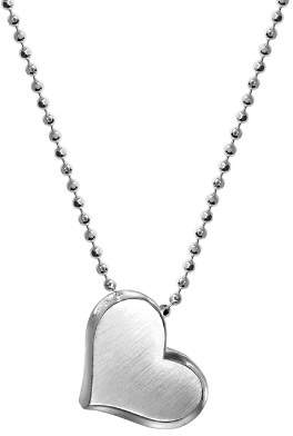 Alex Woo Sterling Silver Prince Heart Bloom Necklace, 16""