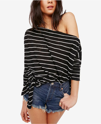 Free People Love Lane Striped Knot T-Shirt $68 thestylecure.com