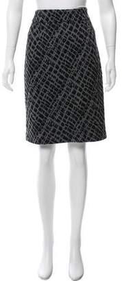 Calvin Klein Jacquard Patterned Knee-Length Skirt