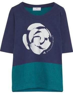 adidas by Stella McCartney Two-Tone Printed Cotton-Jersey T-Shirt