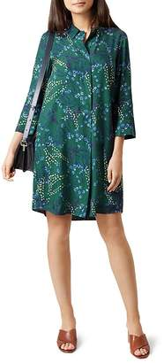 HOBBS LONDON Marci Floral Print Shirt Dress $250 thestylecure.com
