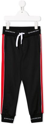 Givenchy Kids logo waistband track pants