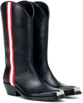 Calvin Klein Leather cowboy boots
