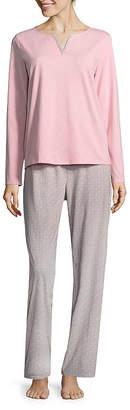 Adonna Split Neck Pajama Set- Womens Tall