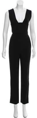 Roland Mouret Sleeveless Cutout Jumpsuit Black Sleeveless Cutout Jumpsuit