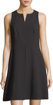 Kensie Split-Neck Sleeveless Crepe A-Line Dress $55 thestylecure.com