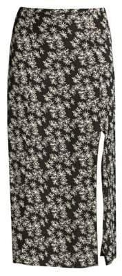 Rixo Thalia Silk Midi Skirt