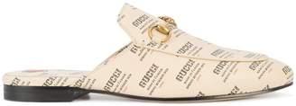 Princetown invite print slippers