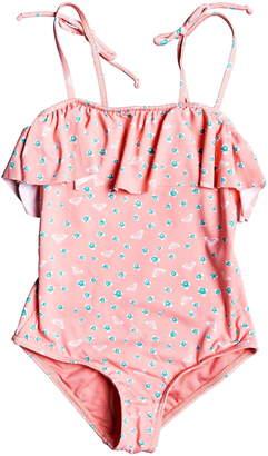 Roxy Splash Party Floral Ruffle One-Piece Swimsuit
