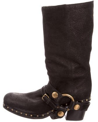 Miu MiuMiu Miu Harness Mid-Calf Boots