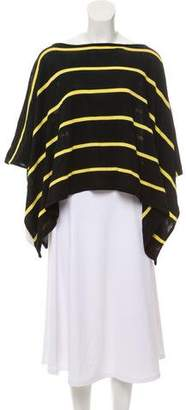 Ralph Lauren Striped Knit Poncho