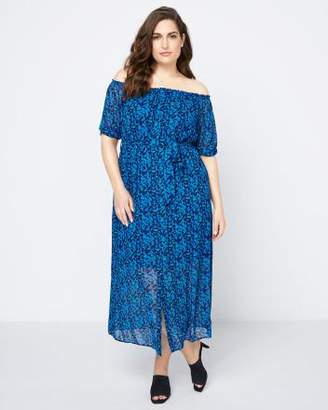Penningtons Printed Off-Shoulder Maxi Dress - In Every Story
