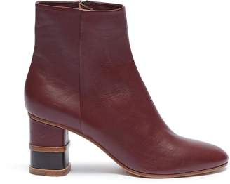 Gabriela Hearst 'Miguel' wooden stacked heel leather ankle boots
