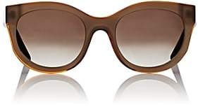 Thierry Lasry Women's Sleepy Sunglasses-Beige, Orange trim