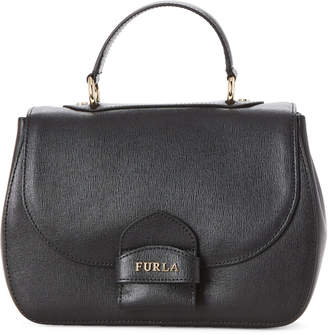 Furla Onyx Coral Saffiano Leather Small Top Handle Bag