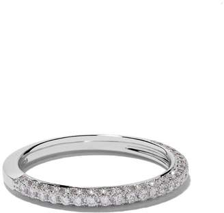 cf081a275120 De Beers 18kt white gold DB Darling half pavé diamond band