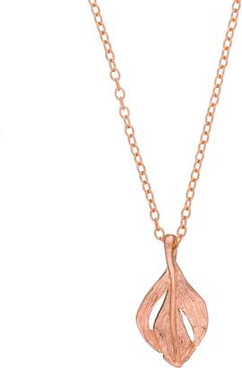 Chupi - Tiny Swan Feather Necklace Rose Gold