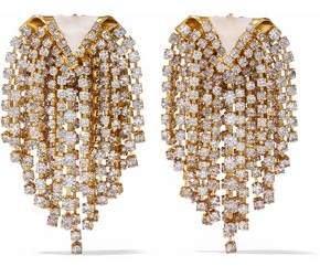 Elizabeth Cole Gold-Tone Stone And Crystal Earrings