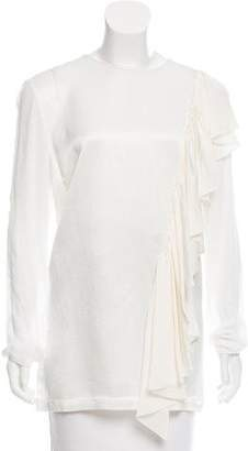 Tome Ruffle-Accented Long Sleeve Top