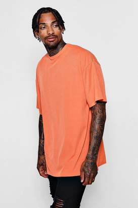 boohoo Oversized Ribbed T-Shirt