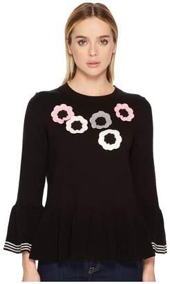 Kate Spade Crochet Flower Bell Sweater Women's Sweater