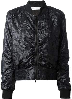 Victoria Beckham Victoria ruffle trim jacquard bomber jacket