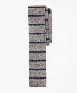 Brooks Brothers Striped Linen-Silk Knit Tie