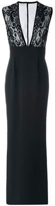 Ungaro lace bodice evening dress