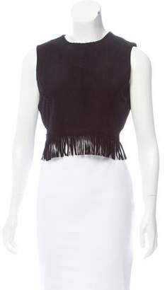 Tamara Mellon Suede Crop Top