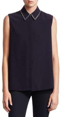 Victoria Beckham Victoria, Studded Collar Shirt