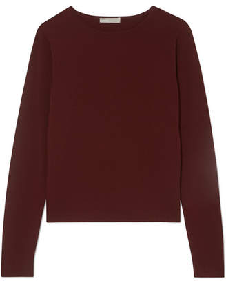 Vince Shrunken Knitted Sweater - Burgundy