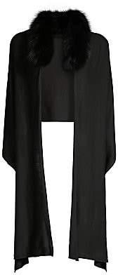 CHARLOTTE SIMONE Women's Samantha Fox Fur Collar Wrap