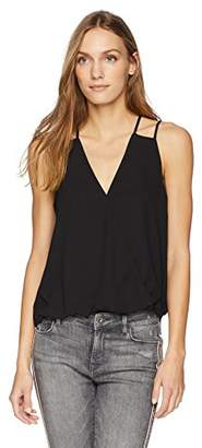 Cooper & Ella Women's Crepe Carly Strappy Detail Wrap Tank
