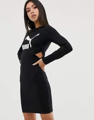Puma classics logo bodycon black dress