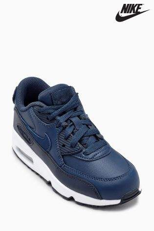 Boys Nike Navy Air Max 90 - Blue