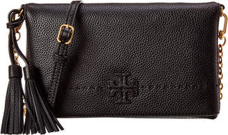 Tory Burch Mcgraw Chain Fold-Over Leather Crossbody
