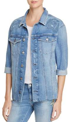 Mavi Jeans Kaylee Icon Denim Jacket in Rose Laser
