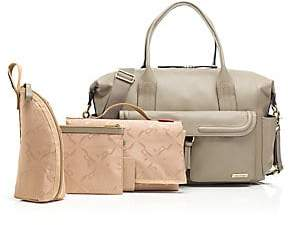 Storksak Women's Charlotte Leather Diaper Bag