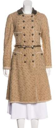 Marc Jacobs Embellished Virgin Wool Coat
