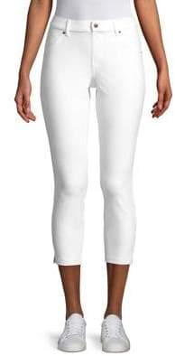 Hue Plus Ankle Slit Essential Denim Capri Pants