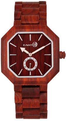 Earth Wood Acadia Wood Bracelet Watch Red 43Mm