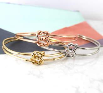 Lucy Loves Neko Infinity Knot Cuff Bracelet Bangle