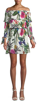Parker Floral Off-the-Shoulder Mini Dress
