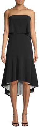 Halston H High-Low Strapless A-Line Dress
